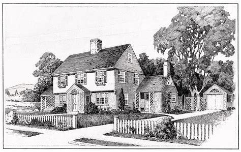 Tudor Home Plans by 1917 House Illustration And Floor Plans Old Design Shop Blog