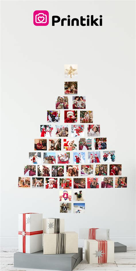Christmas Tree Photo Wall Collage Printiki Tree Photo Collage Template