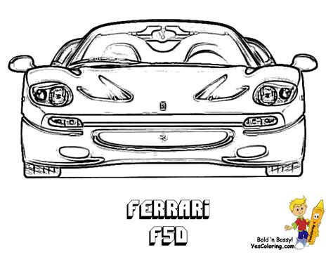 free ferrari coloring pages book for kids boys com ferrari colouring pictures