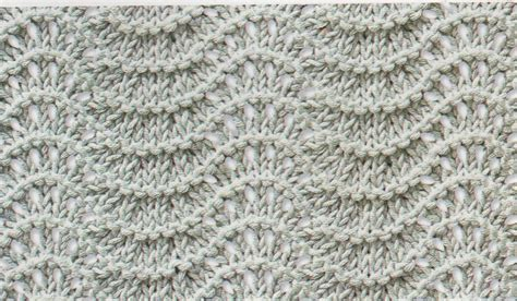 the knitting boutique shale stitch for this attractive lacy