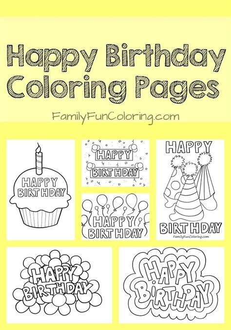 happy birthday cousin coloring pages coloring sheets that say happy birthday for the special