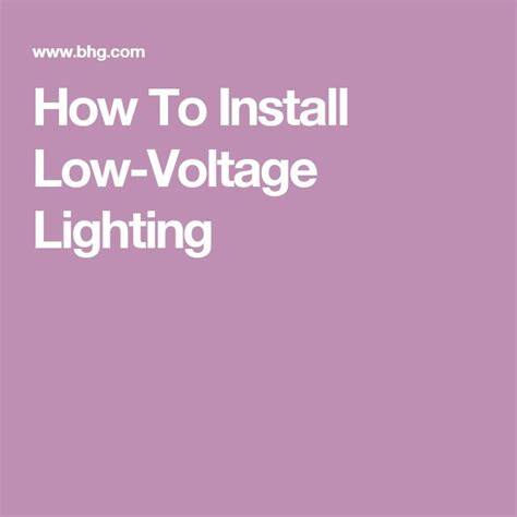 how to install low voltage lighting best 25 low voltage outdoor lighting ideas on