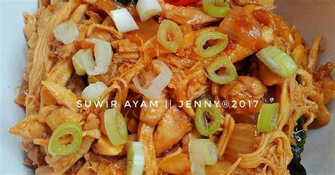 resep suwir ayam ala kondangan oleh jenny cookpad