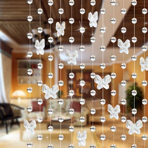 beads decoration home aliexpress com buy 100cm butterfly waterdrop crystal