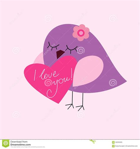 valentines day bird postcard valentines day with a bird stock vector image