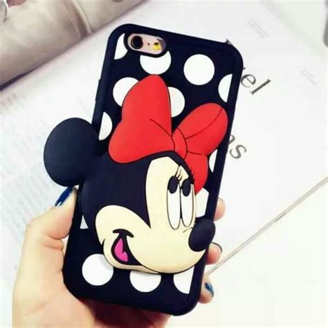 Samsung J5 3d Silicone Mickey Minnie 1 Mouse Back Cover T1910 coque samsung galaxy grand j5 arc minnie mickey