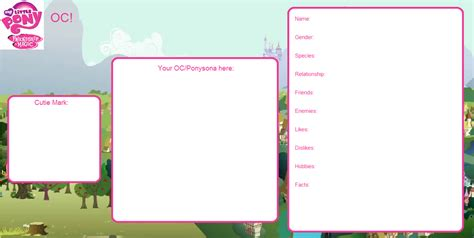 pony oc template mlp oc meme blank by toongirl18 on deviantart