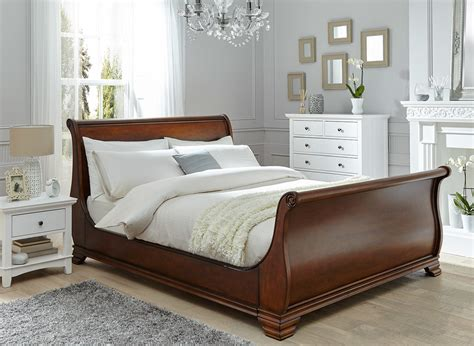 wooden bed frame orleans walnut wooden bed frame dreams