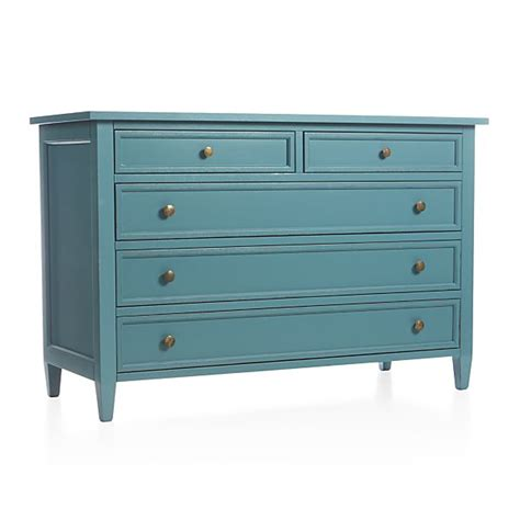 Crate And Barrel Dresser harbor blue five drawer dresser crate and barrel