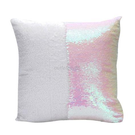 Sofa Pillow Cases Mermaid Sofa Cushion Cover Glitter Sequins Throw Pillow