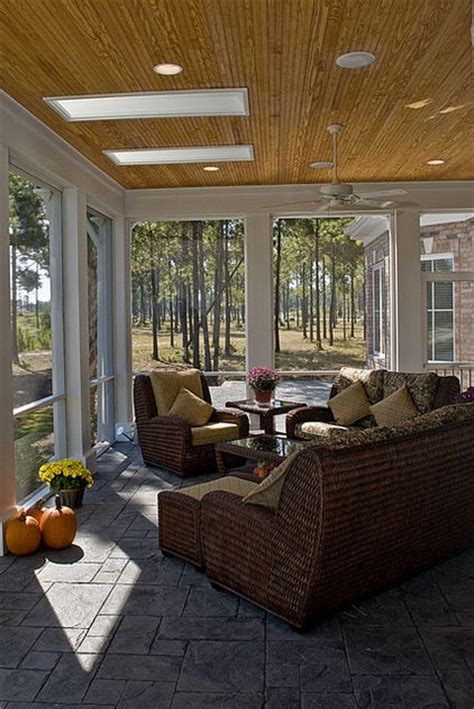 screen rooms natural light patio covers natural light patio covers bead board ceiling on screen porch add skylights for some