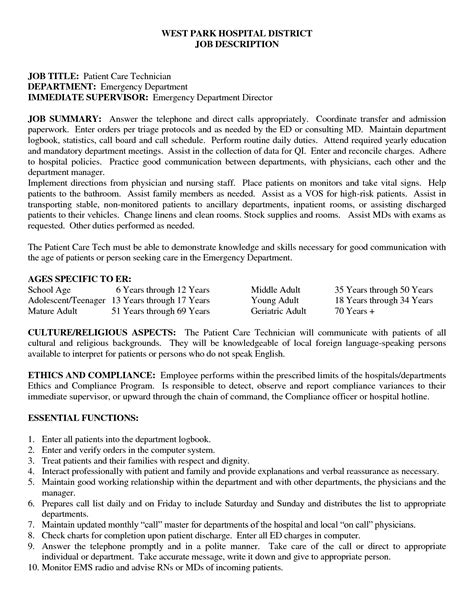 patient care technician skills resume mechanical engineering hvac design resume templates