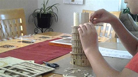 How To Make A Tower With One Of Paper - building the leaning tower of pisa part 2
