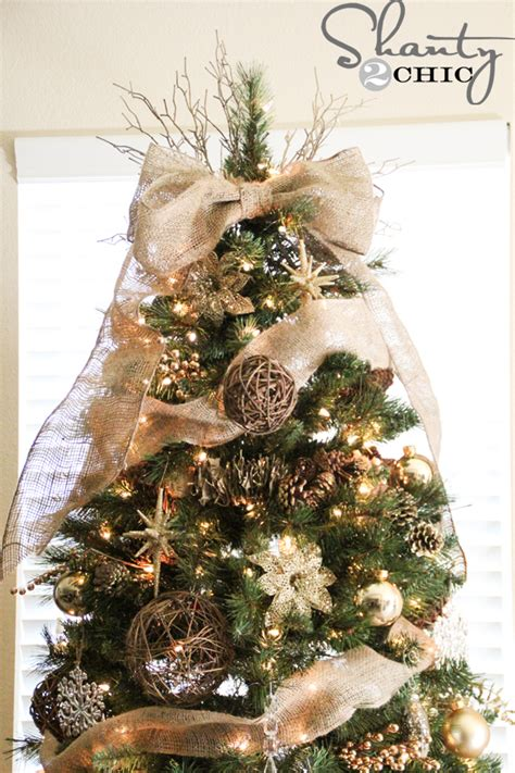 make your own christmas tree topper easy diy tree topper shanty 2 chic
