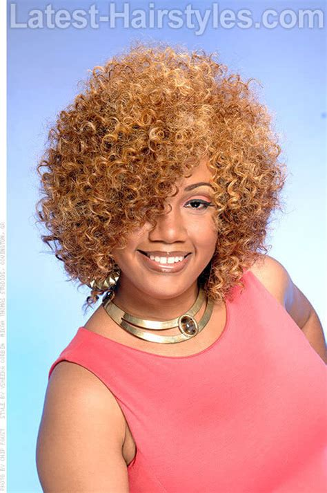 spiral curls toward the face period 15 black girls with blonde hair color inspiration for