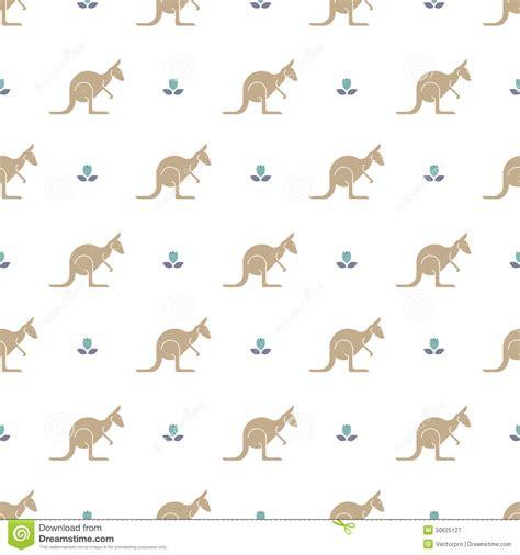 pattern making paper australia kangaroo pattern stock vector image 50625127