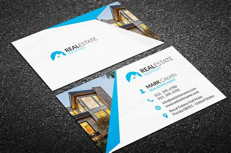 real estate business card design templates 20 real estate business card templates