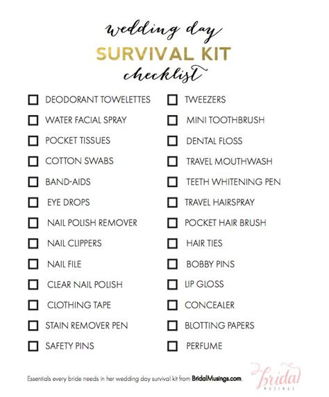 wedding day emergency kit checklist groom 25 best ideas about bridesmaid survival kits on