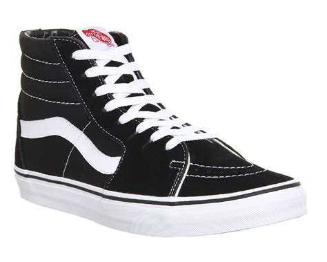 Vans Sk8 High Black White Waffle Dt vans sk8 hi black white canvas office