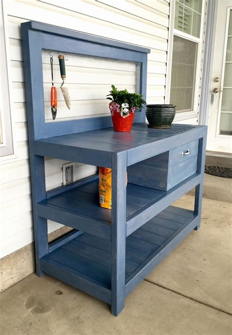 build potting bench diy potting bench plans bench plans