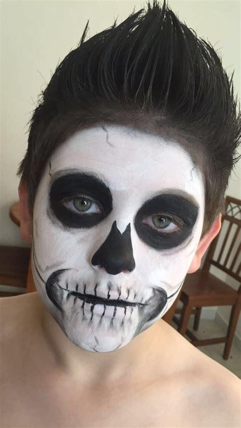 kids skeleton face paint  halloween skeleton costume