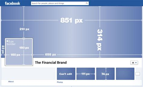 fb profile picture size facebook image size template the financial brand