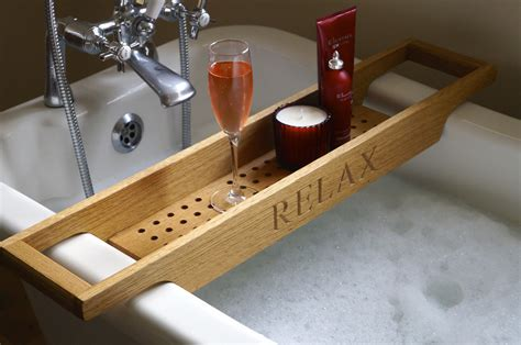wooden bathtub uk personalised wooden bath racks the perfect christmas gift