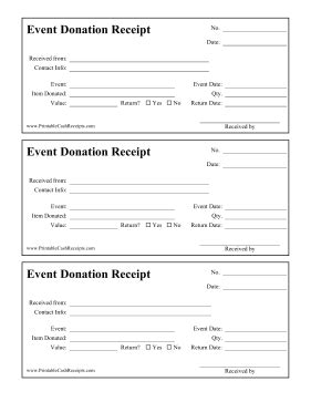 charity auction receipt template this printable donation receipt is for who donate