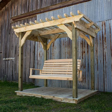 pergola swings mini pergola w deck and lumbar swing