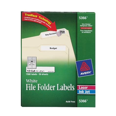 avery file folder labels for laser and ink jet printers