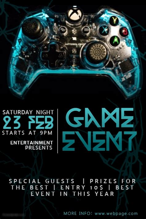 video game event flyer template postermywall