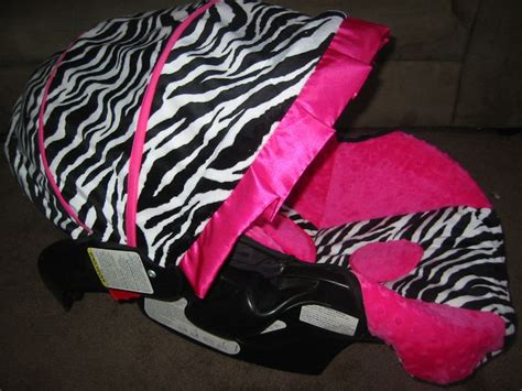 zebra and pink car seat graco snugride black white zebra