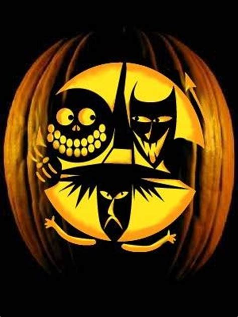 lock shock and barrel pumpkin templates canadiangardenjoy carvings i
