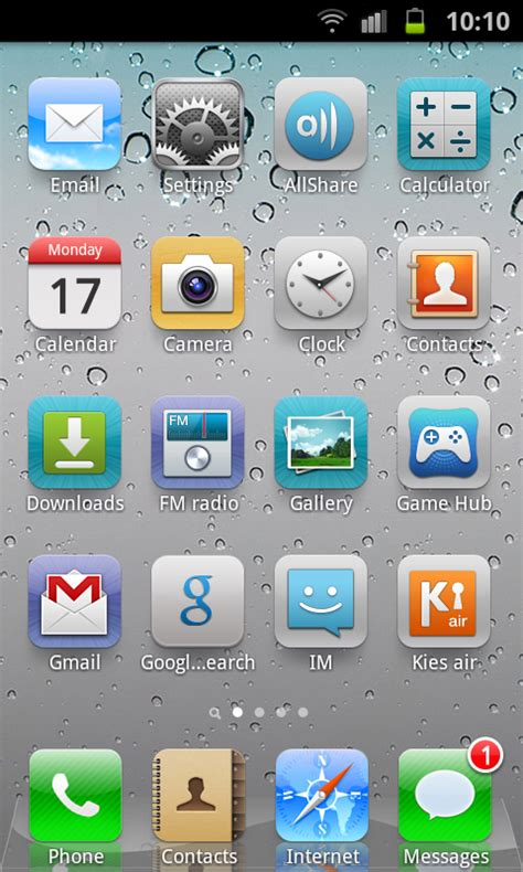 themes iphone 5 untuk android get ios5 looks theme layout on android with espier
