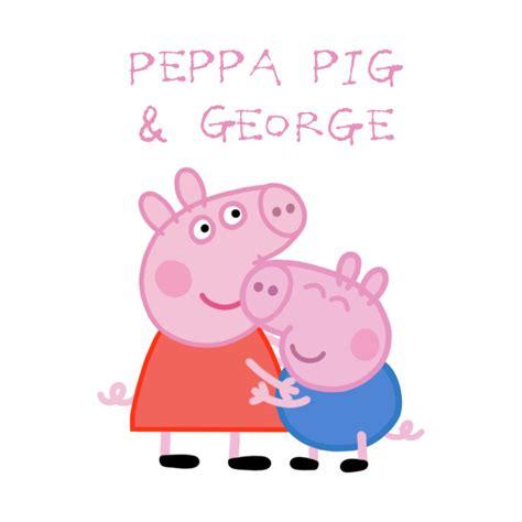 peppa pig and george peppa pig t shirt teepublic