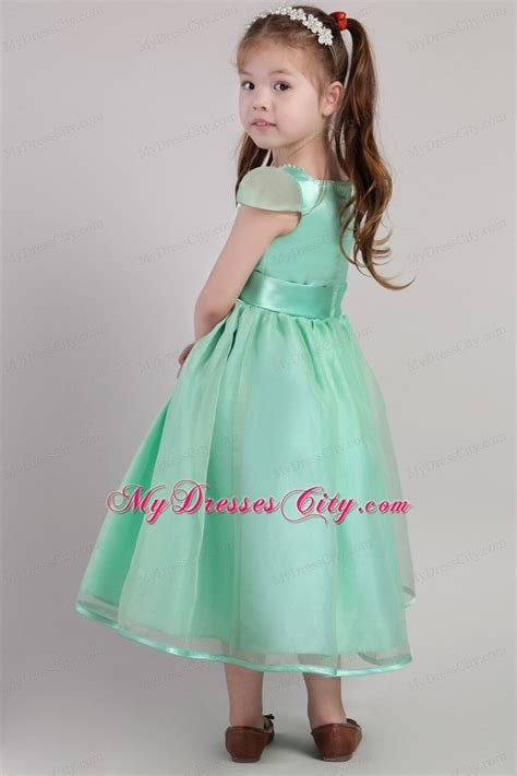 apple green a line belted little dress with square neckline mydresscity com