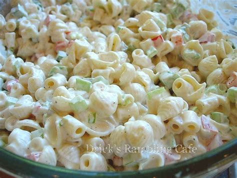 recipes for pasta salad creamy southern pasta salad drick s rambling cafe