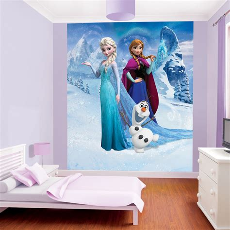 disney frozen wallpaper by walltastic great kidsbedrooms