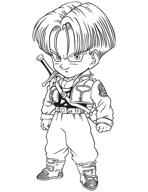 dragon ball character coloring page h m coloring pages dragon ball z trunks coloring page h m coloring pages