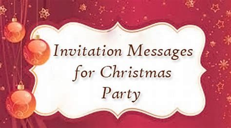 invitation messages  christmas party