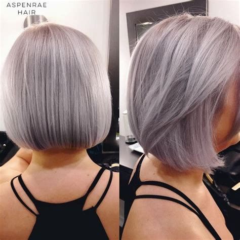 hairstyles with silver color stunning silver bob haircuts