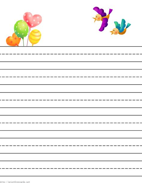 Paper With Children - free printable stationery for free lined
