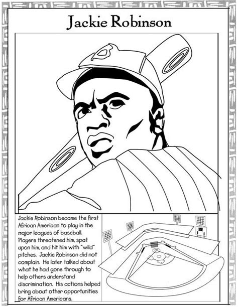 Jackie Robinson Coloring Page Teaching Black History Coloring Pages For Black History Month