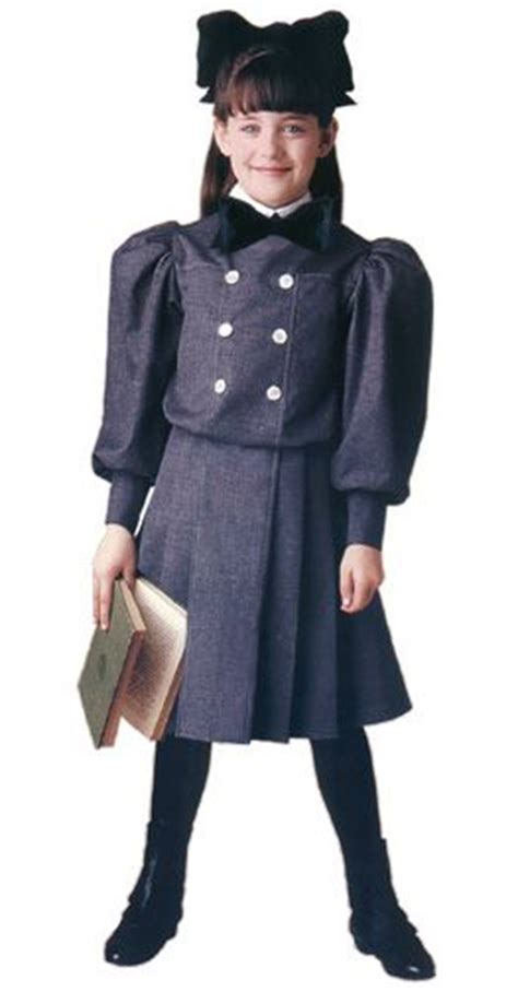 "Samantha's gray flannel ""Buster Brown"" school dress with"