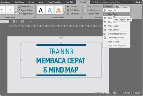 tutorial powerpoint untuk pemula membuat slide lebih rapi dengan fitur align presentasi net