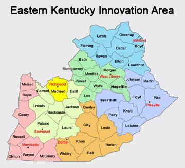 kentucky map eastern new economy cedet eastern kentucky