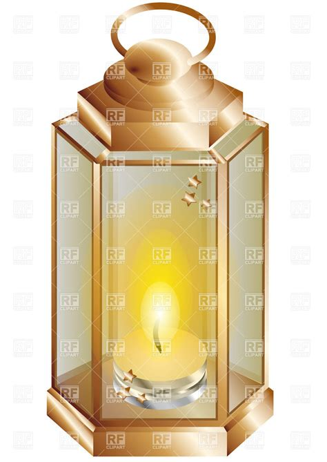 lantern with candle inside royalty free vector clip art