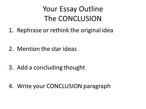 Concluding Paragraph Essay by The Essay Step Up To Writing Ppt