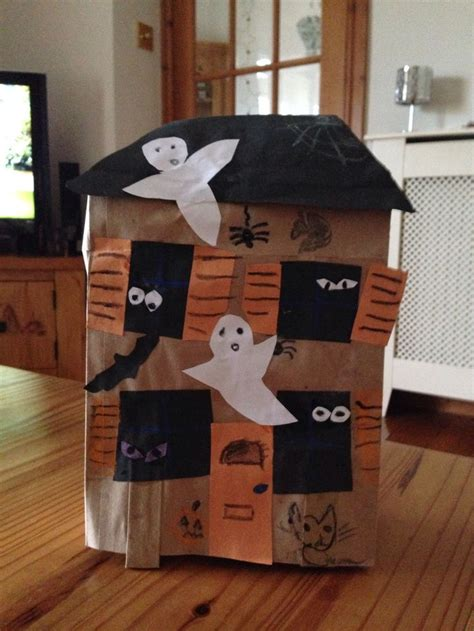 Paper Bag House Craft - paper bag haunted house craft hw