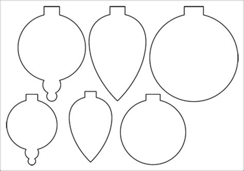 baubles templates to colour paper decorations